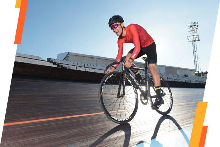 entrenamiento de ciclismo pista